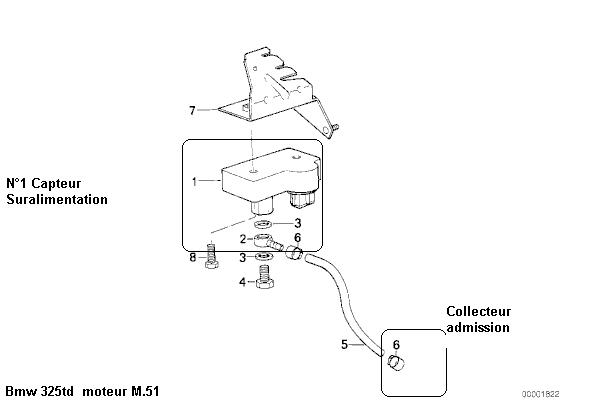 [ BMW E36 325 TD an 1995 ] tuyau circuit servo-frein 13_m_510