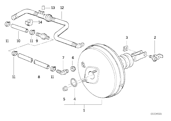 [ BMW E36 325 TD an 1995 ] tuyau circuit servo-frein 34_luc10