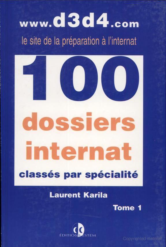 100 dossiers d'internat classés par spécialité Image44