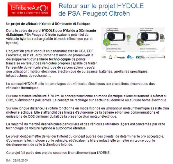 [Information] Projet HYDOLE H310