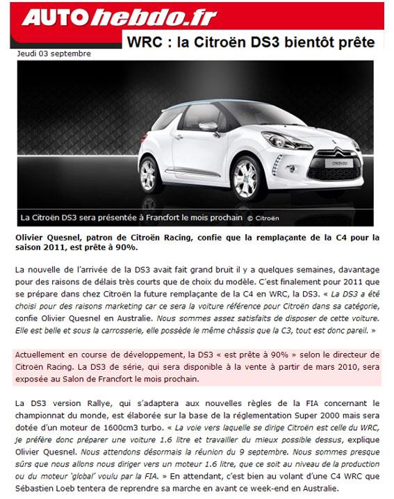 [Sport] DS3 WRC N33910