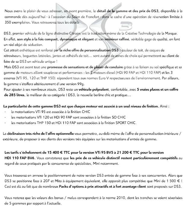 [INFORMATION] Gamme et tarifs W113