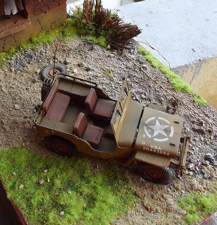 jeep williys 1/24 italeri Dioram11