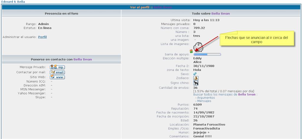Modificar directamente los campos en el perfil Tut_210