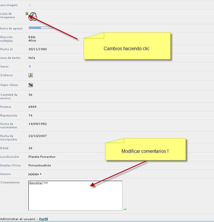 Modificar directamente los campos en el perfil Tut_8b10