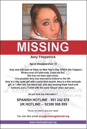 ORGANISATIONS ASSISTING TO FIND AMY Lucy_b10