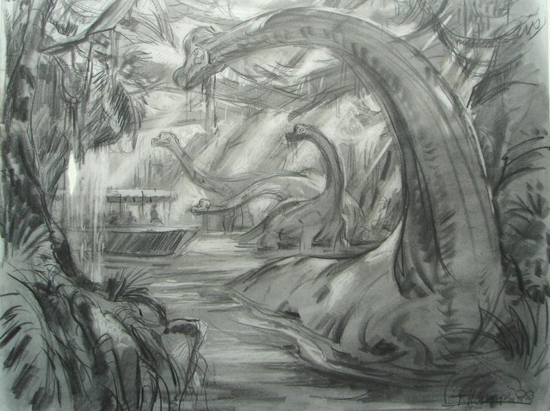 "Animal Kingdom: le roller coaster ""dinosaures"" qui n'a jamais existé Fx_din10"