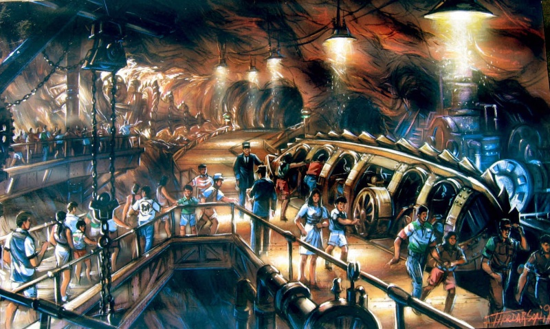 [Tokyo DisneySea] Artworks Journey to the Center of the Earth & 20,000 Leagues... Journe10