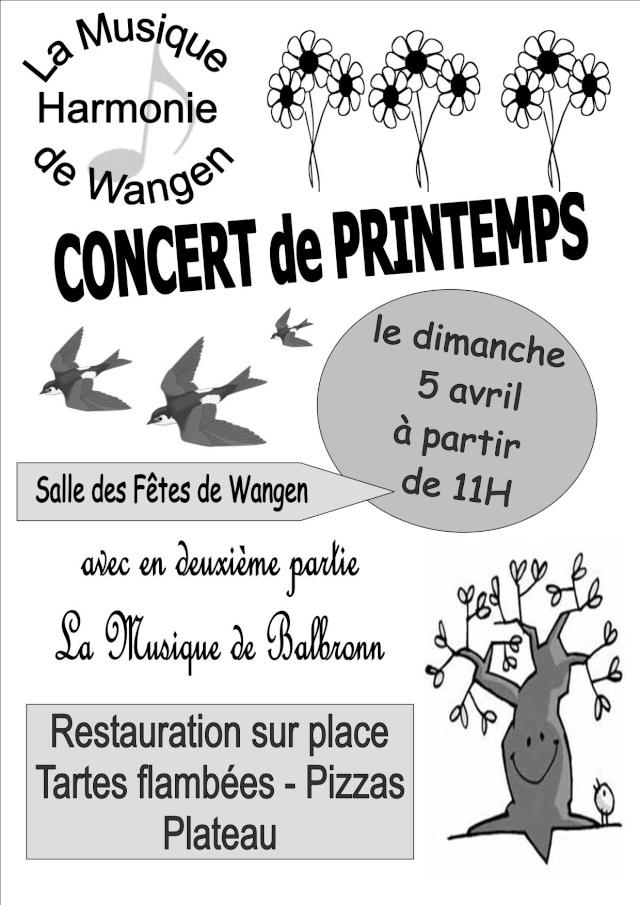 Concert de printemps de la musique harmonie de Wangen dimanche 5 avril 2009 Concer11
