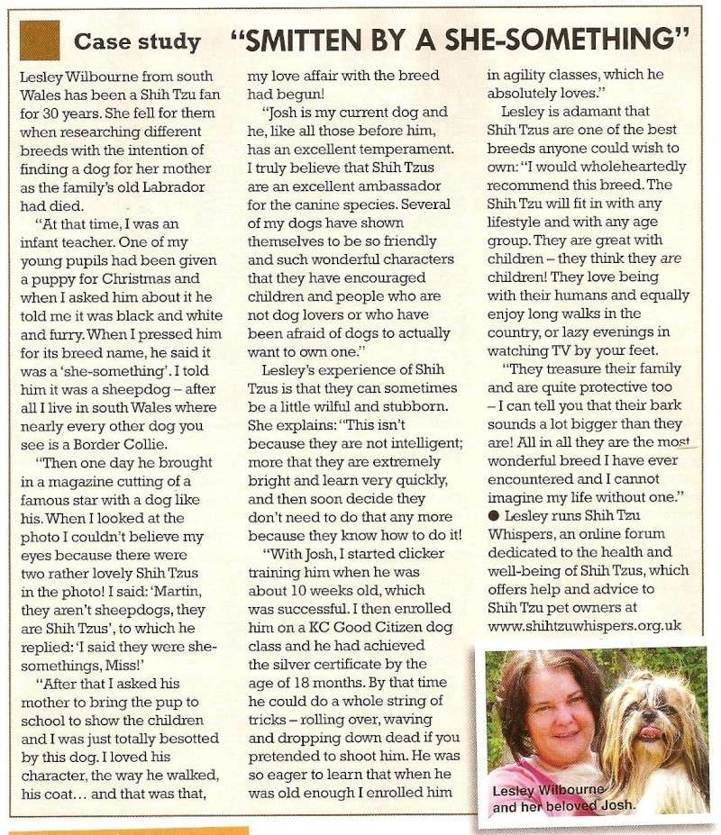 Dogs Monthly Featuring our very own Lesley & Josh Lesley10