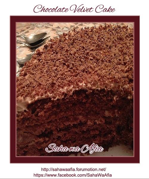 ~ Chocolate Velvet Cake ~ Chocol13