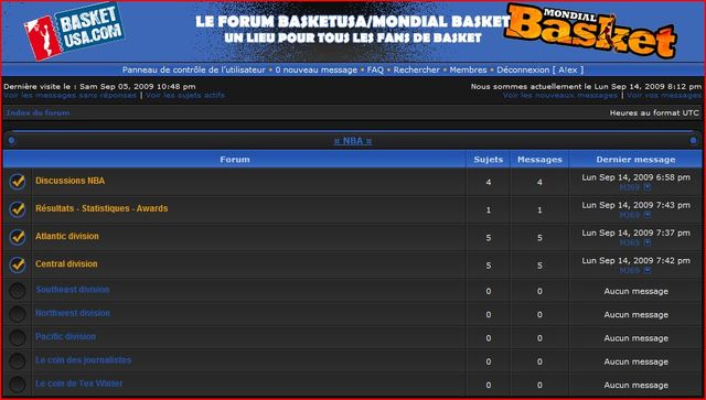 Forum FAN DE BASKETBALL