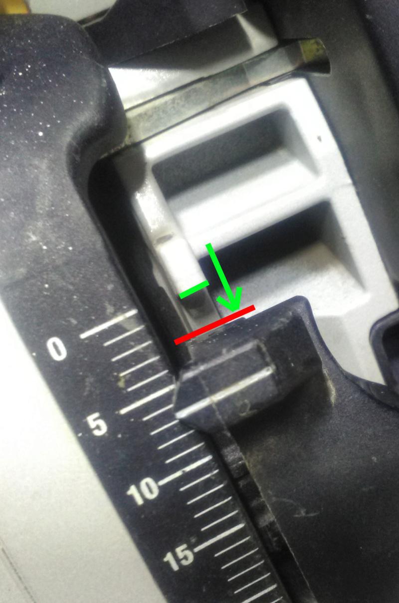Modifier le curseur de profondeur de coupe sur scie TS 55 EBQ  Img_2206