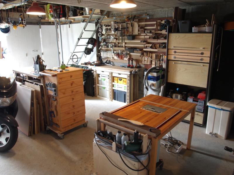 Mon garage faisant office d'atelier P6136418