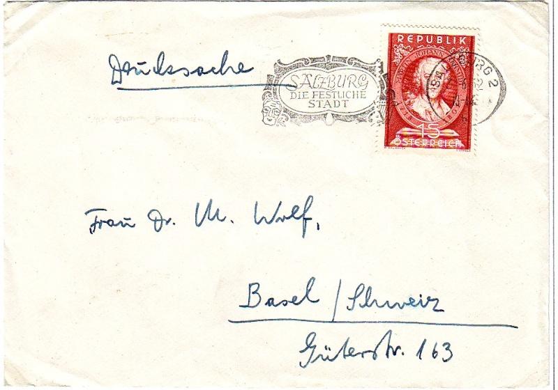 Sammlung Bedarfsbriefe Österreich ab 1945 195110