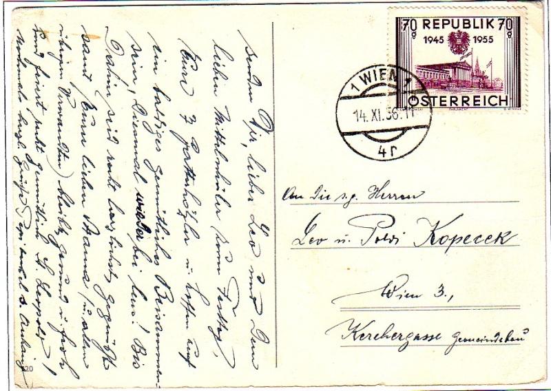 Sammlung Bedarfsbriefe Österreich ab 1945 195510