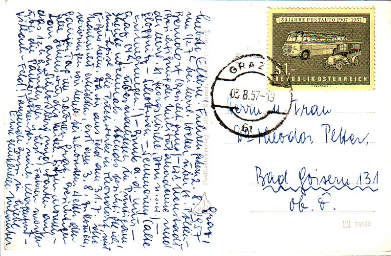 Sammlung Bedarfsbriefe Österreich ab 1945 195710