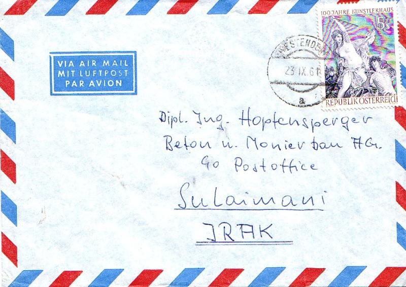 Sammlung Bedarfsbriefe Österreich ab 1945 196110