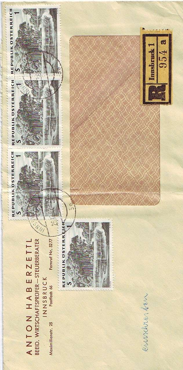 Sammlung Bedarfsbriefe Österreich ab 1945 196210