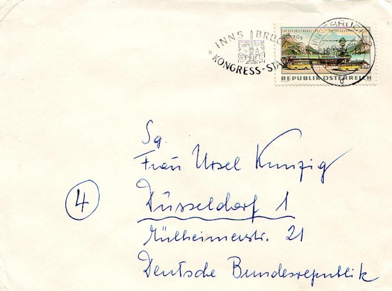 Sammlung Bedarfsbriefe Österreich ab 1945 196410