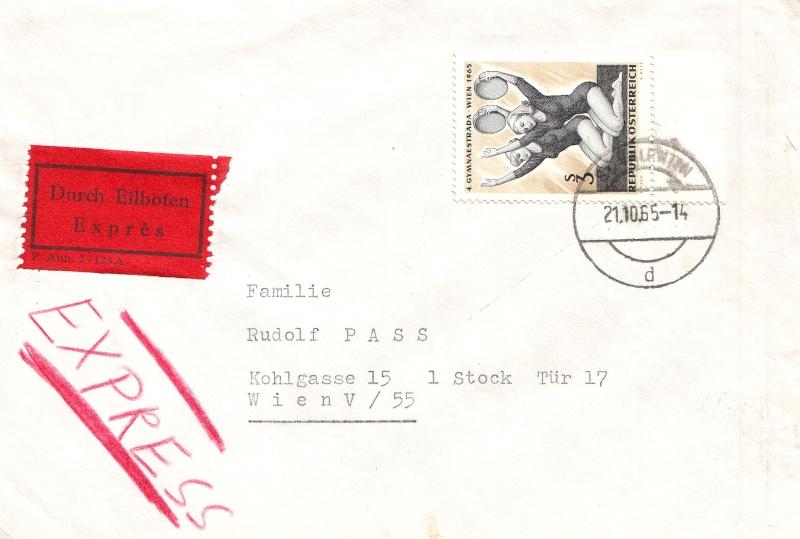Sammlung Bedarfsbriefe Österreich ab 1945 196510