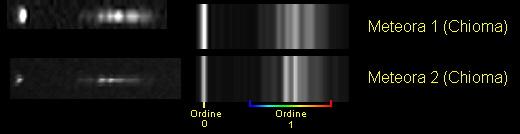Secondo tentativo di spettrografia di meteore Confr10