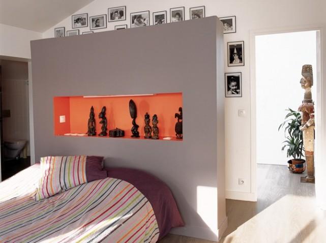 La chambre parentales. Agencement, installation d'un dressing et couleur! Tete-d11