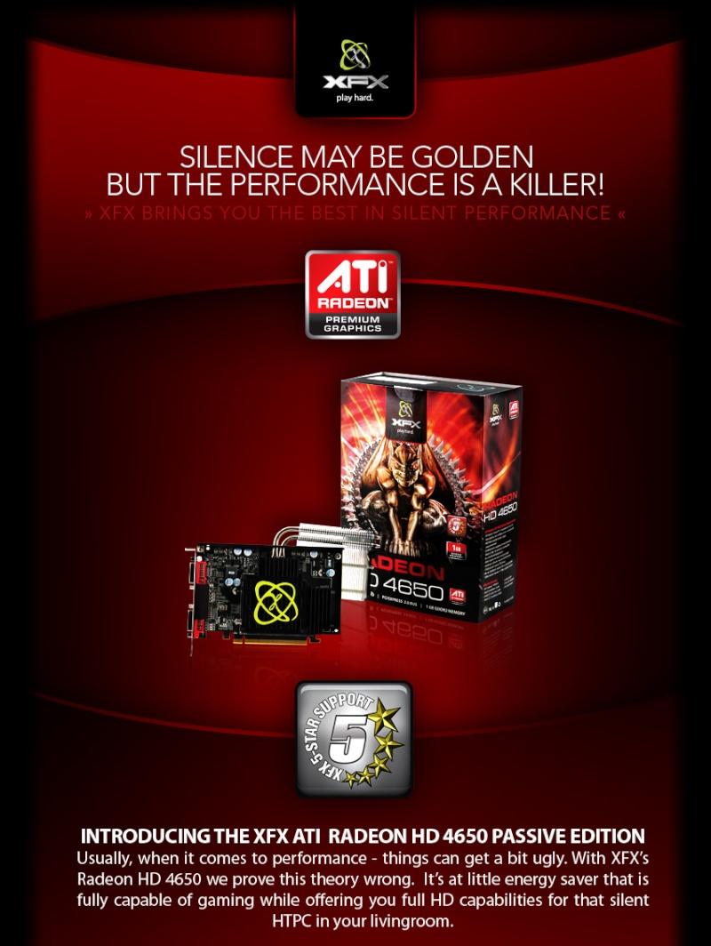 XFX's Radeon HD 4650 Passive Edition Radeon10