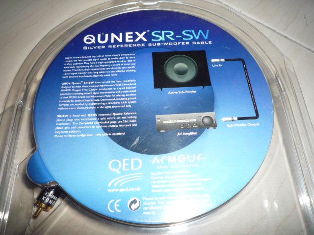 QED Qunex SR-SW subwoofer interconnect (New) P1020126