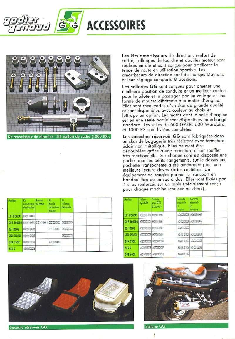 CATALOGUE GODIER GENOUD 1988 ET TARIF 510