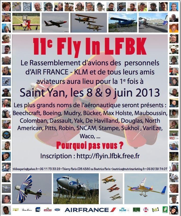 Fly in St Yan 2013  8 et 9 Juin Programme Affich10