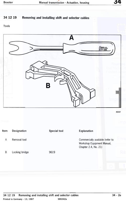 Boxster S de 2003... problème de boîte de vitesses Levier11