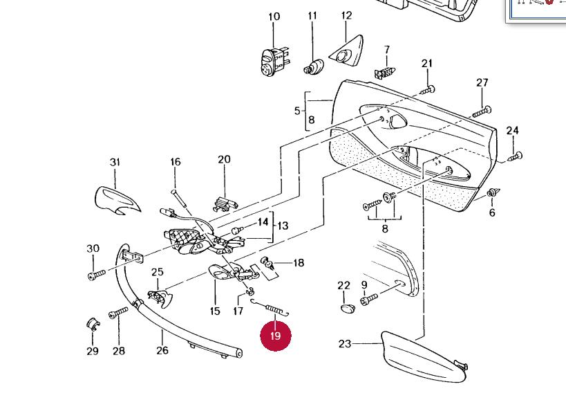 Boxster - mécanisme ouverture portiere [Résolu] Ressor10