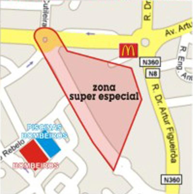 Mapa do troço e da super-especial do Rali das Caldas 2009 Caldas11