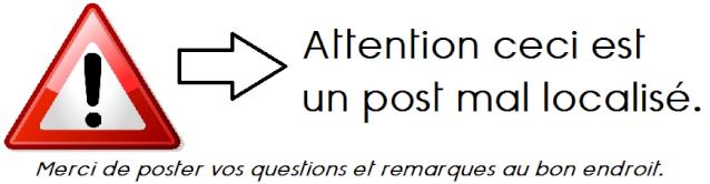 RAPPEL DE LA CHARTE : Comment poster un message sur le forum ?  Attent11