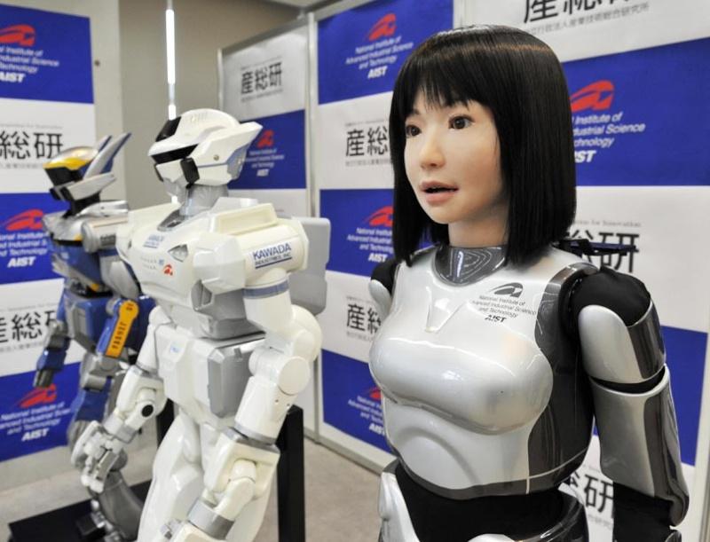 "La primera robot humanoide ""modelo""; La HRP-4C Hrp-4c11"