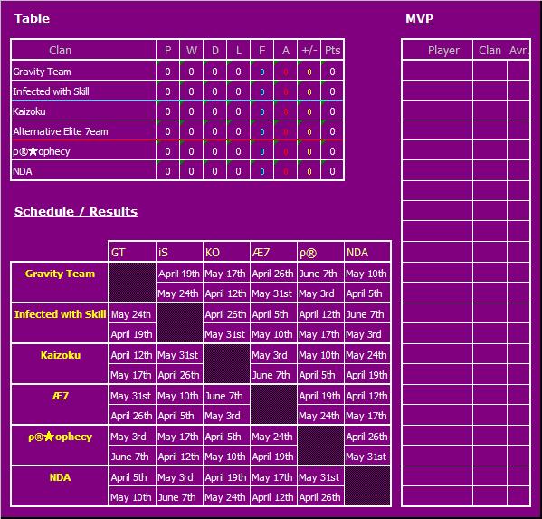 Calendario WCL - Divison Lightning Axh75s11