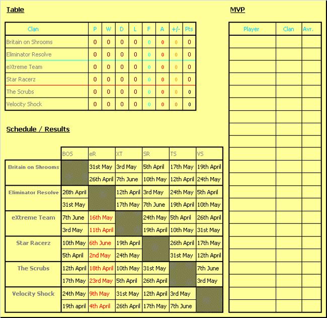 Calendario WCL - Divison Banana Wcltab10