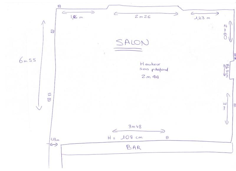 Aménagement studio avec coin nuit lit 1.40 et armoirettes de rangement basses 00112