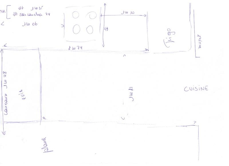 Aménagement studio avec coin nuit lit 1.40 et armoirettes de rangement basses 00310