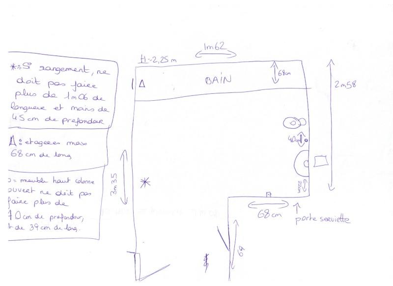 Aménagement studio avec coin nuit lit 1.40 et armoirettes de rangement basses 00410