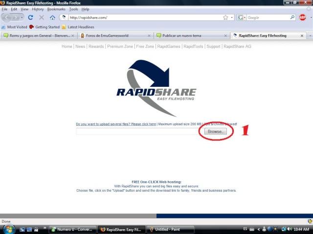 [TUTORIAL] Subir archivos desde Rapidshare Rapids14
