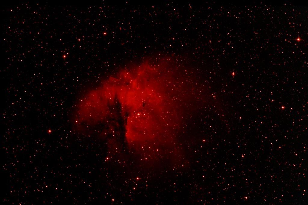 Debut astrophoto NGC 281 en h alpha Pacman11