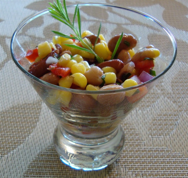 Salade de maïs et de haricts aux fines herbes ou «Une petite salade santé pour Messidor» 7_midi14