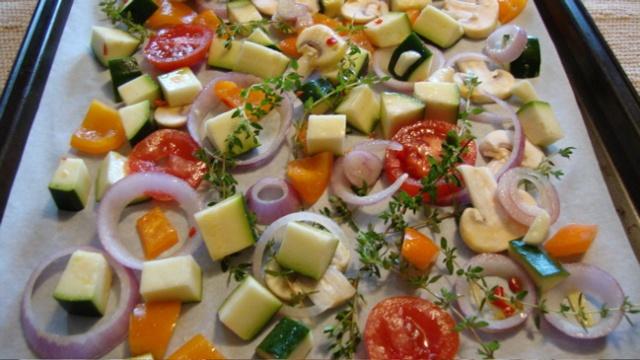 Pâtes courtes aux légumes dorés pour deux 8_lagu10