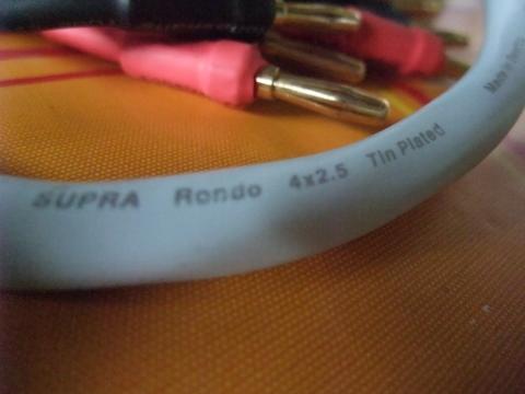 Supra Rondo 4x2.5 speaker cables (Used) SOLD Dscf0610