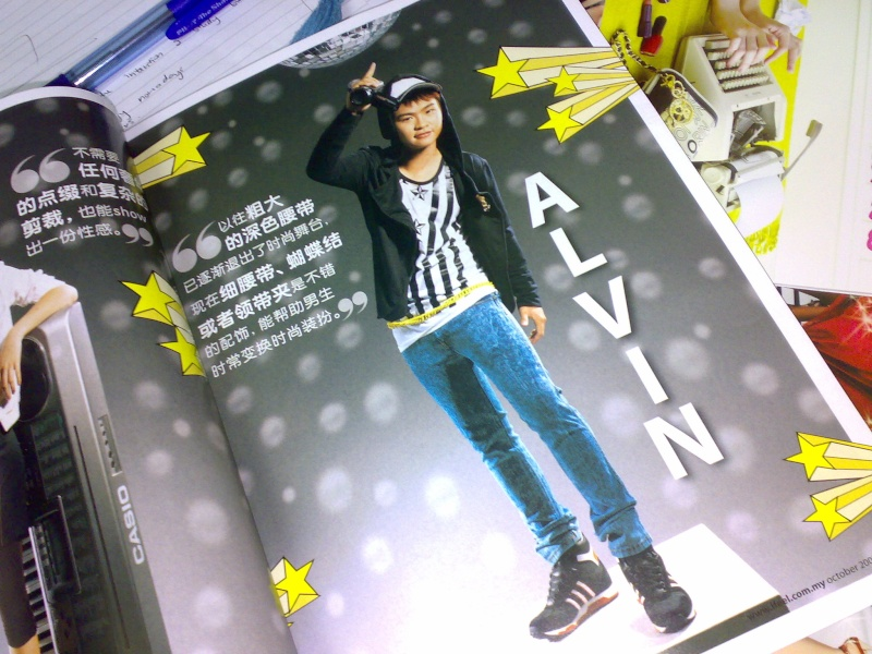 Alvin's Photos on IFEEL Magazine !!! 02102016