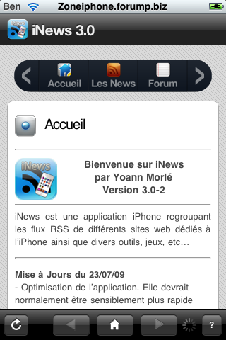 iNews : toute l'actualitée sur l'iPhone + Notification Push Img_0048
