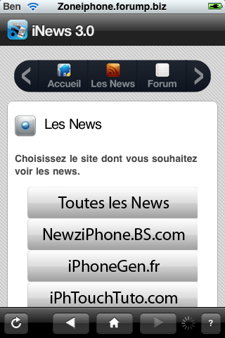 iNews : toute l'actualitée sur l'iPhone + Notification Push Img_0049