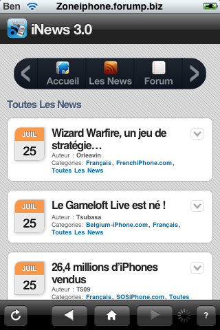 iNews : toute l'actualitée sur l'iPhone + Notification Push Img_0050